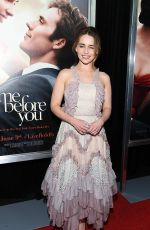 EMILIA CLARKE at Me Before You Premiere in New York 05/23/2016