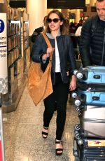 EMILIA CLARKE at Pearson International Airport in Toronto 05/17/2016
