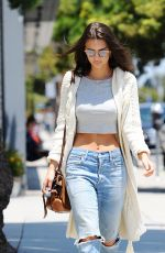 EMILY RATAJKOWSKI in Ripped Jeans Out in Santa Monica 05/26/2016