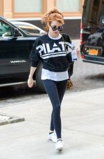 EMMA ROBERTS Arrives at a Gym in New York 04/30/2016