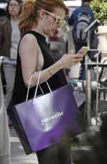 EMMA ROBERTS Arrives at Her Hotel in New York 05/01/2016