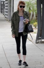 EMMA ROBERTS at a Gym in West Hollywood 05/09/2016
