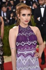 EMMA ROBERTS at Costume Institute Gala 2016 in New York 05/02/2016