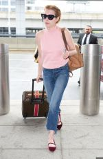 EMMA ROBERTS at JFK Airport in New York 05/03/2016