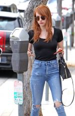 EMMA ROBERTS in Ripped Jeans Out in Venice Beach 05/05/2016