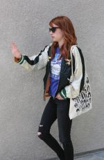 EMMA ROBERTS Leaves Nine One Zero Salon in West Hollywood 05/19/2016