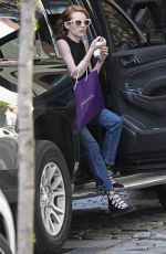 EMMA ROBERTS Out Shopping in New York 05/01/2016