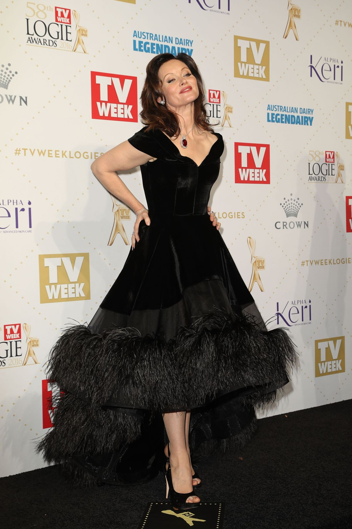 ESSIE DAVIS at 58th Annual Logie Awards in Melbourne 05/08/2016