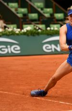 EUGENIE BOUCHARD at Second Round Match of French Open in Paris 05/26/2016