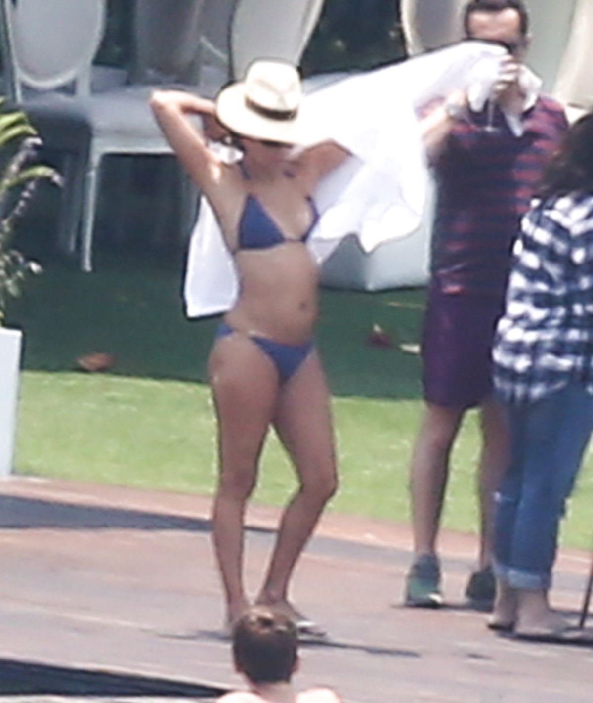 EVA LONGORIA Joins Her Wedding Guests by the Pool in Valle Del Bravo 05/22/2016