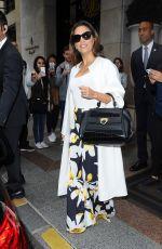 EVA LONGORIA Leaves Four Seasons Hotel George V in Paris 05/10/2016