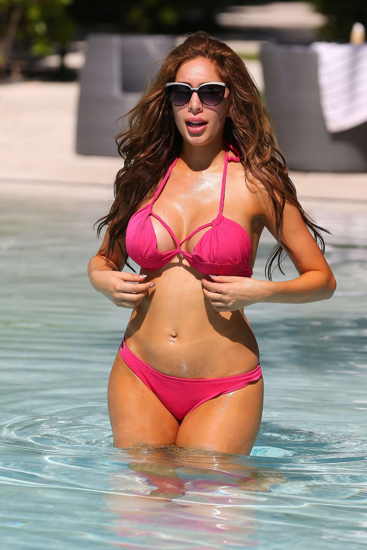 FARRAH ABRAHAM in Bikini at a Pool in Miami 05/21/2016