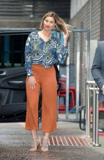 FERNE MCCANN Leaves Lorraine Show in London 05/18/2016