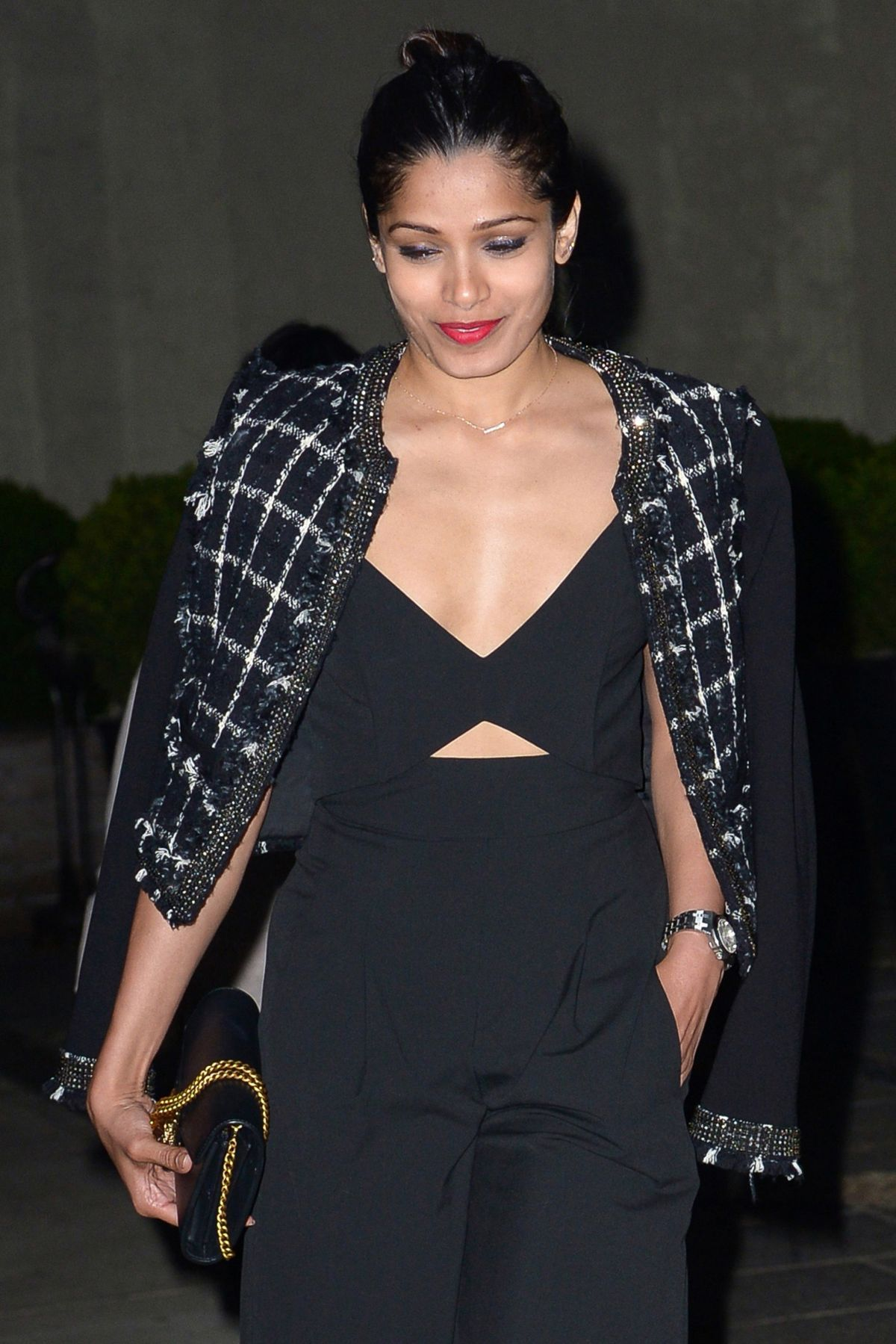 FREIDA PINTO Night Out...