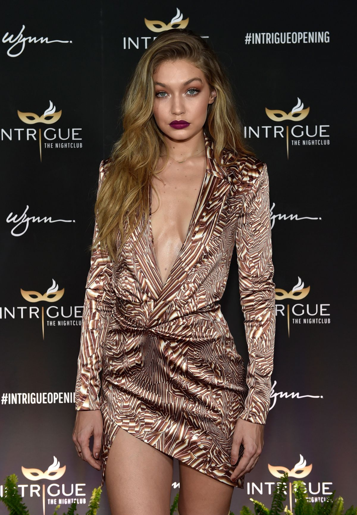 GIGI HADID Celebrates Her 21st Birthday at Intrigue Nightclub in Las Vegas 04/30/2016