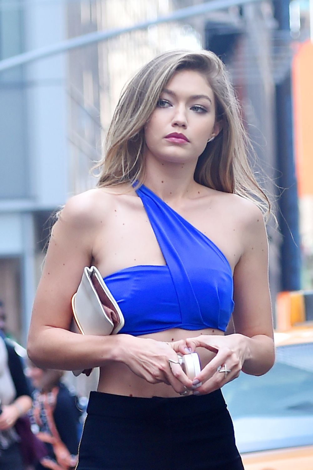GIGI HADID on the Set of a Maybelline Commercial in New York 05/12/2016