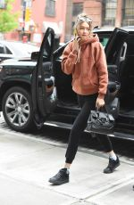 GIGI HADID Out and About in New York 05/06/2016