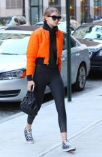 GIGI HADID Out and About in New York 05/08/2016
