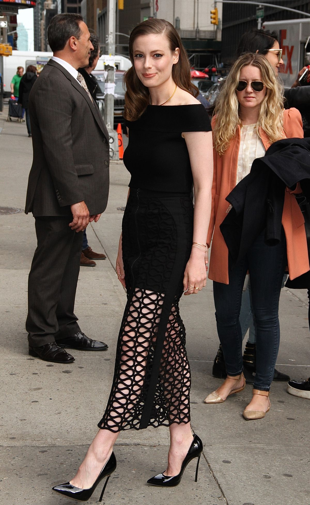 GILLIAN JACOBS Arrives at