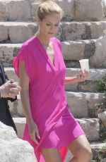 HEIDI KLUM Out and About in Cannes 05/16/2016
