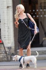 HELEN GEORGE Walks Her Dog Out in London 05/18/2016