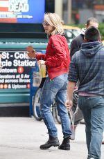 HELEN HUNT Leaves a Starbucks in New York 05/17/2016