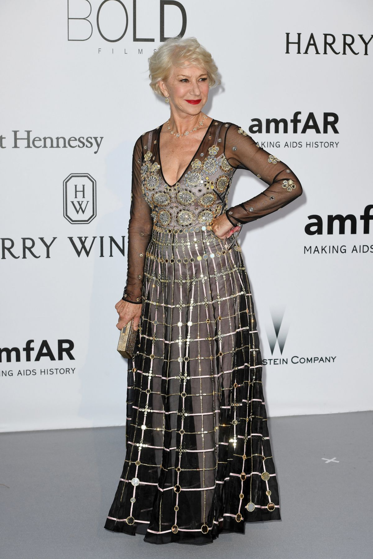 HELEN MIRREN at Amfar's 23rd Cinema Against Aids Gala in Antibes 05/19/2016