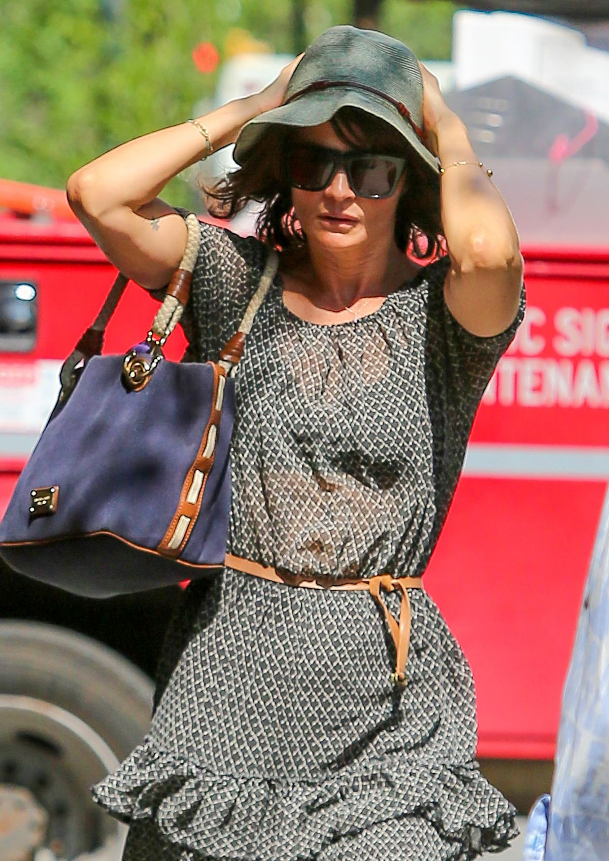 HELENA CHRISTENSEN Out and About in West Village 05/25/2016