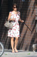 HELENA CHRISTENSEN Walks Her DOg Out in West Village 05/26/2016