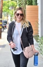 HILARY DUFF Leaves a Gym in West Hollywood 05/3/1016