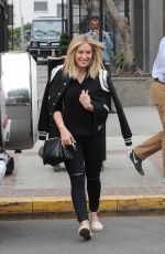 HILARY DUFF Leaves a Salon in Melrose Place 05/10/2016