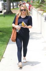 HILARY DUFF Out and About in Beverly Hills 05/30/2016