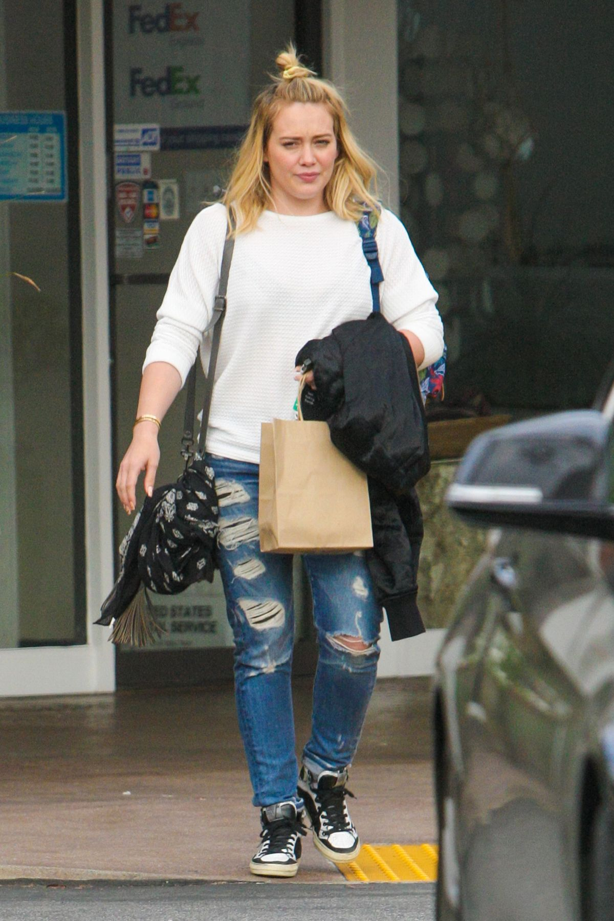 HILARY DUFF Out in Beverly Hills 05/15/2016