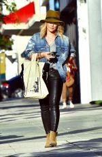 HILARY DUFF Out Shopping in Studio City 05/14/2016