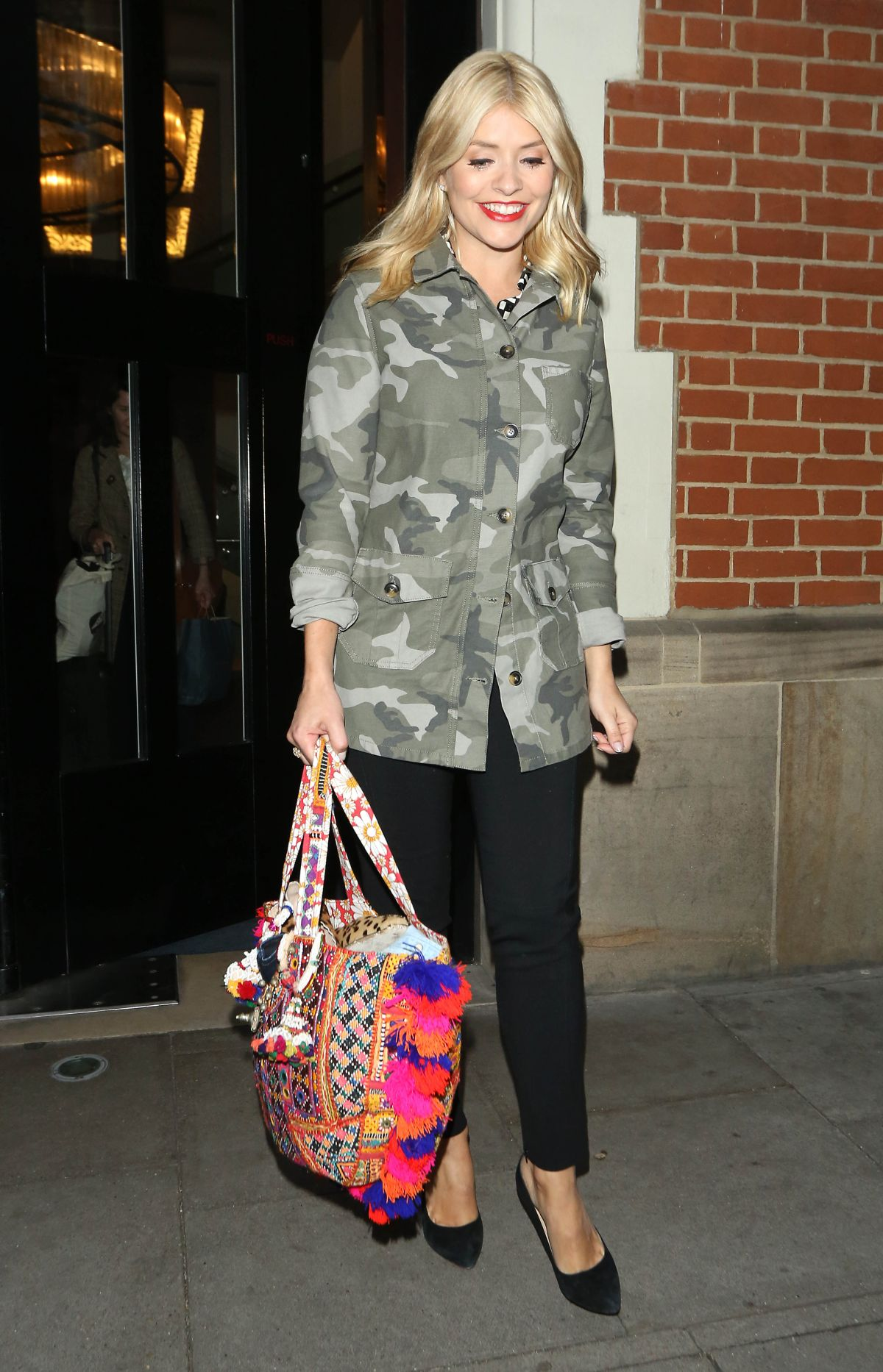 HOLLY WILLOGHBY Leaves The Hospital Club in London 05/25/2016