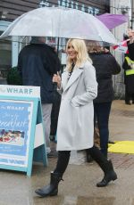 HOLLY WILLOUGHBY Filming on the South Bank in London 05/11/2016