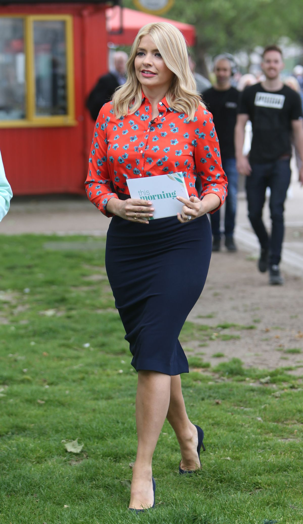 HOLLY WILLOUGHBY on the Set of