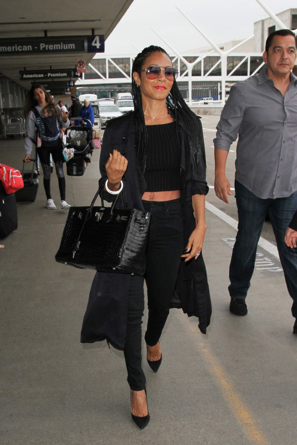 JADA PINKETT SMITH at Los Angeles International Airport 05/10/2016