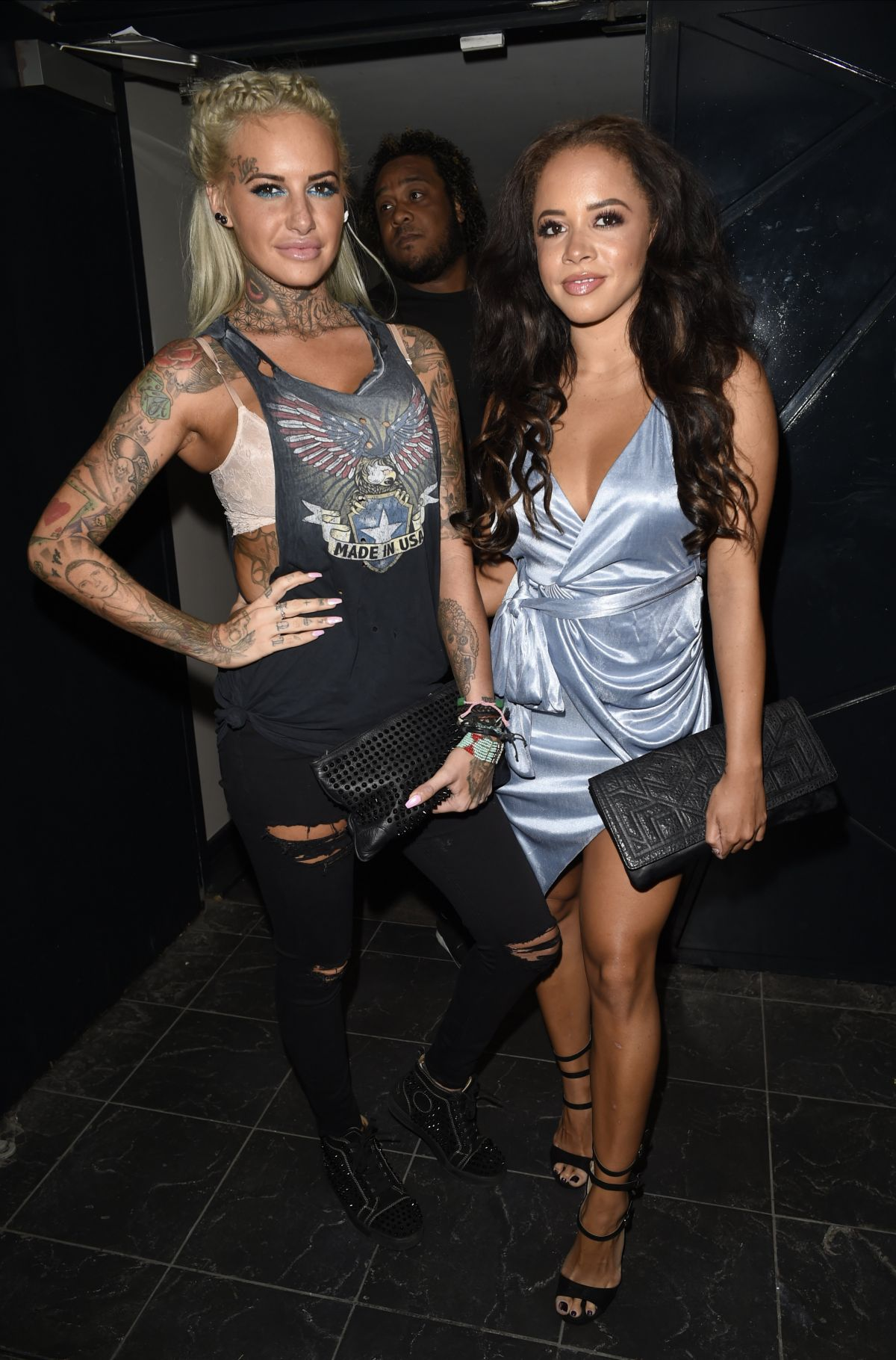 JEMMA LUCY and OLIVIA WALSH at Club LIV in Manchester 05/12/2016