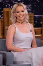 JENNIFER LAWRENCE at Tonight Show with Jimmy Fallon in New York 05/23/2016
