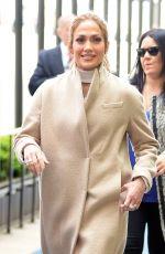 JENNIFER LOPEZ Arrives at NBC/Universal Upfront Presentation in New York 05/16/2016