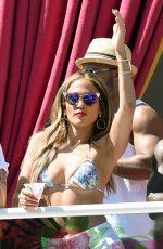 JENNIFER LOPEZ in Bikini Top at