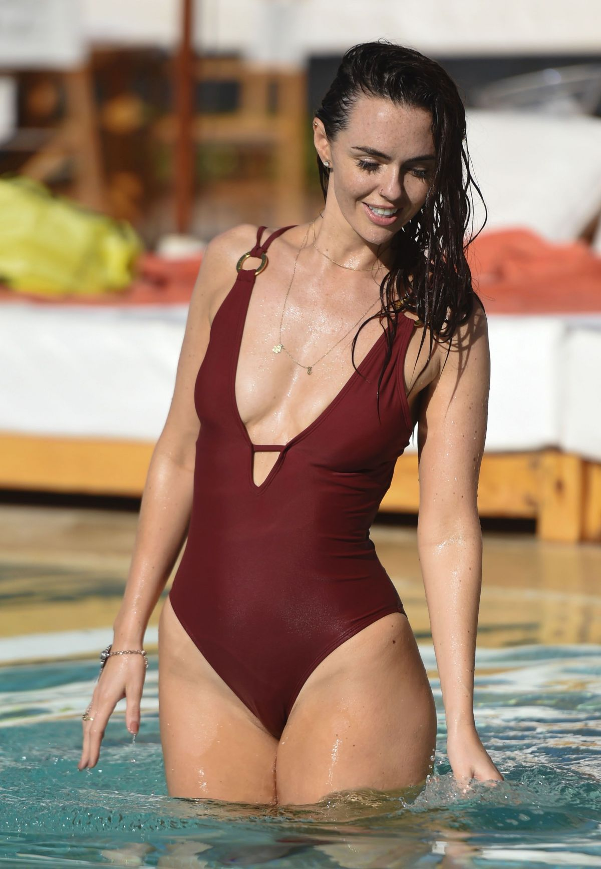 JENNIFER METCALFE at a Poolin Marrakesh 05/03/2016