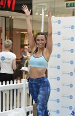 JENNIFER METCALFE Doing Yoga at Trafford Centre in Manchester 05/14/2016