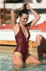 JENNIFER METCALFE in Swimsuit at a Pool in Marrakesh 05/03/2016