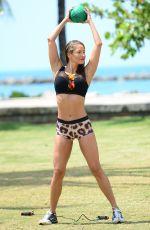JENNIFER NICOLE LEE in Bikinis at a Beach. May 2016