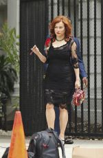 JENNIFER TILLY on the Set of
