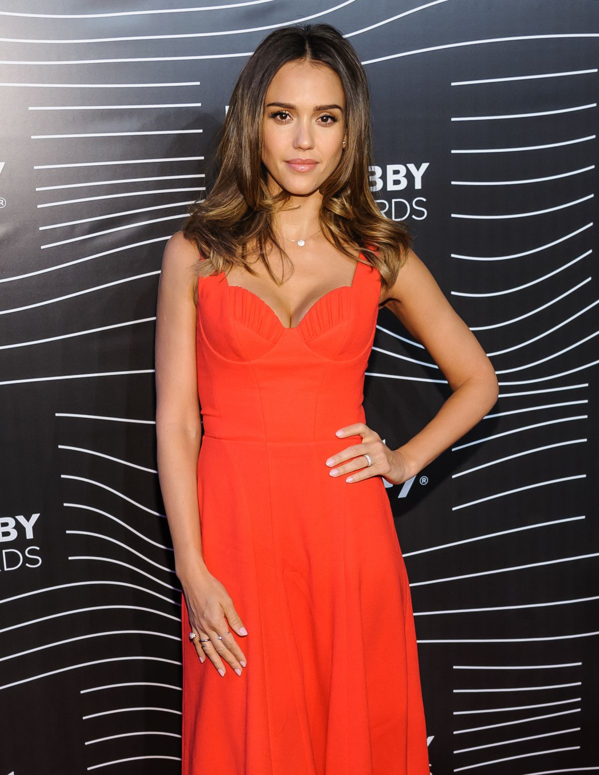 JESSICA ALBA at 20th Annual Webby Awards in New York 05/16/2016