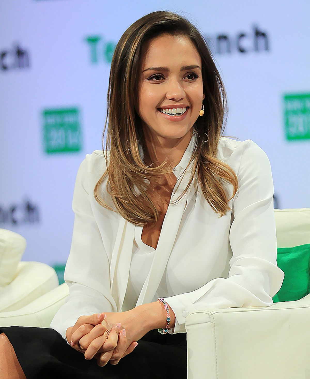 JESSICA ALBA at TechCrunch Disrupt Conference in Brooklyn 05/11/ 2016