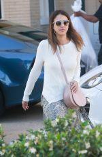 JESSICA ALBA Leaves Barney